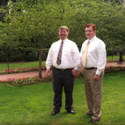 JR & Robert in the Shakespeare Garden